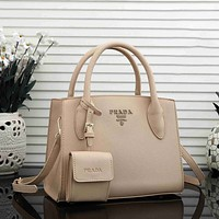 Prada Hot Two-Piece Set Fashion Ladies Tote Bag One Shoulder Messenger Bag