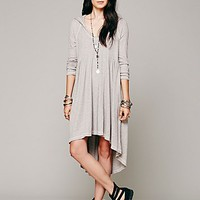 Free People Womens Comfy Hooded Dress