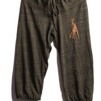 long winded Giraffe Pants, Capris, Yoga Pants, Pajamas, S,M,L,XL
