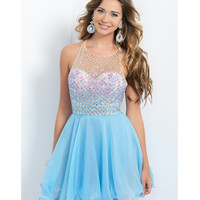 Preorder - Intrigue by Blush INT93 Sky Blue Beaded Chiffon Dress 2015 Homecoming Dresses