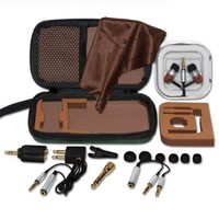 Classic Woodees IESW100TK Ultimate Travel Kit with Microphone (Umber Stain)