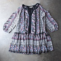 Final Sale - Cold Shoulder Babydoll Dress in Paisley Print [womens contemporary]