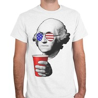 George Washington Fourth Of July T-Shirts - Men's Casual Tees