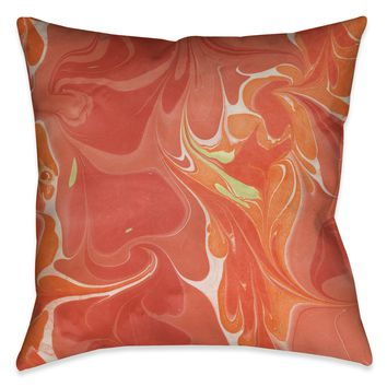 Persimmon II Marble Decorative Pillow