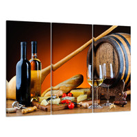 Huge Food&Wine Home Decor HD Canvas Prints Wall Art Paintings Unframed