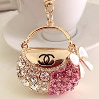 Stylish Korean Bags Rhinestone Fashion Diamonds Car Pendant [12171418963]