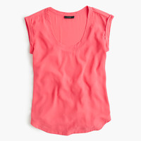 J.Crew Womens Polished Scoopneck Top