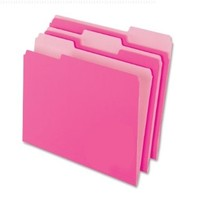 Pendaflex Two-Tone Color File Folders, Letter Size, 1/3 Cut, Pink, 100 per Box (152 1/3 PIN)