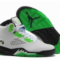 Hot Air Jordan 5 Retro Women Shoes White Green