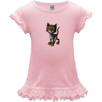 This sweet little baby leopard has a sweet little smile. It's paws are big for when this cat grows up. $24.99 www.FlaminInk.FlaminCatDesigns.com