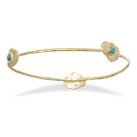 Brass and Turquoise Bangle