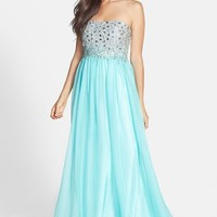 Sean Collection Embellished Bodice Chiffon