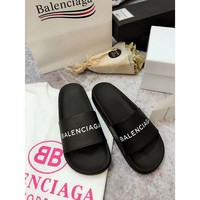 Balenciaga Women Leather Fashion Slipper