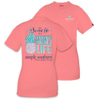 "Simply Southern ""Mom Life"" Short Sleeve Tee Large"