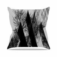 "Pia Schneider ""TREES V2"" Black White Gray Throw Pillow"