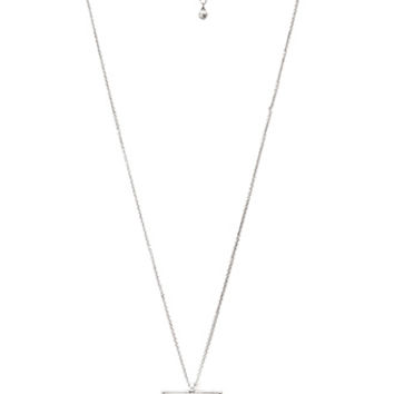 Dimpled Geo Pendant Necklace
