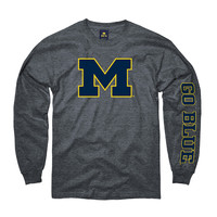 The M Den - New Agenda University of Michigan Oxford Gray Long Sleeve M