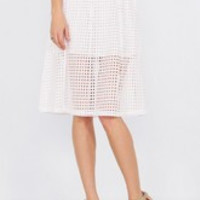 Clean Grid Skirt