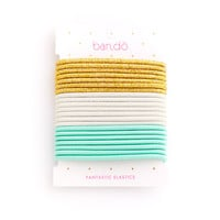 fantastic elastics - metallic gold / white / mermaid