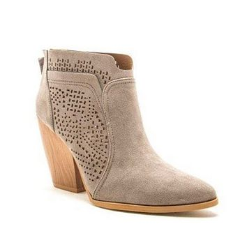 BLACK FRIDAY SPECIAL! Adorable Grey Block Heel Bootie Boot by Quipid