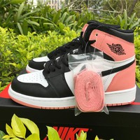 NIKE Jordan ladies casual running shoes casual shoes contrast high to help pink