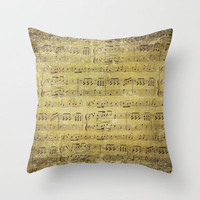Music is what feelings sound like Throw Pillow by Sylvia Cook Photography | Society6