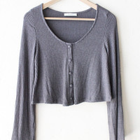 Ribbed Knit Crop Sweater