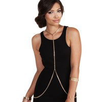 Sale-gold Chain Link Body Chain