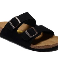 Men's and Women's BIRKENSTOCK sandals Arizona Soft Footbed Suede Leather 632632288-003