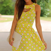 Citrus City Dress, Yellow