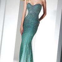 Prom Dresses, Celebrity Dresses, Sexy Evening Gowns at PromGirl: Strapless Fitted Silk Ombre Dress