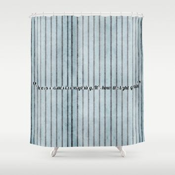 Where the light emerges Shower Curtain by anipani