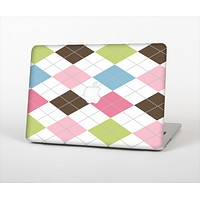 The Colorful Stitched Plaid Shapes Skin Set for the Apple MacBook Air 11""