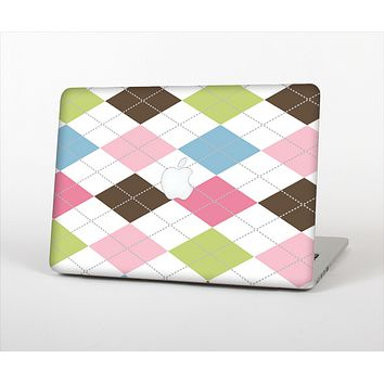 """The Colorful Stitched Plaid Shapes Skin Set for the Apple MacBook Air 11"""""""