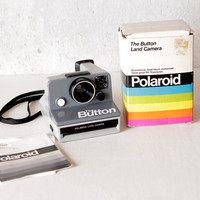 Vintage Working Polaroid Button SX-70 Land Camera with Box and Manual, Tested and Works