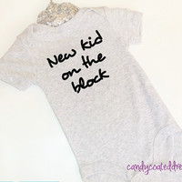 T-shirt or Onesuit U Pick Color funny baby bodysuits kids shirts trendy cute stylish gray black toddler model