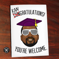 Congratulations Kangratulations Kanye West Graduation Inspired Theme - 4.5 X 6.25 Inches - Highschool or College