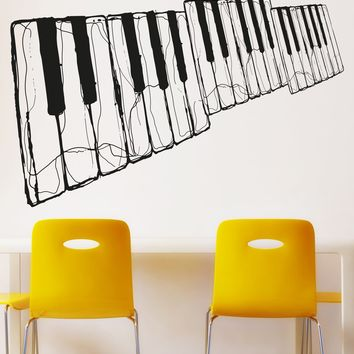 Cracking Piano Key Wall Decal. #OS_AA1336