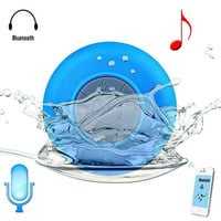 Ultra Portable Waterproof Wireless Bluetooth Speaker with Suction Cup for Showers, Bathroom, Car, Outdoor