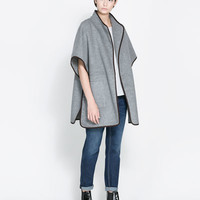 HAND - MADE WOOL CAPE - Coats - Woman | ZARA United States