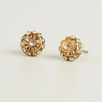 Faceted Colorado Topaz Stud Earrings - World Market
