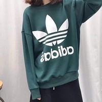 Adidas Women Fashion Print Sweatshirt Top Sweater