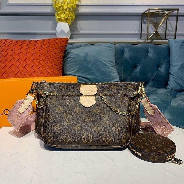 Image of lv louis vuitton womens leather shoulder bag satchel tote bags crossbody 461