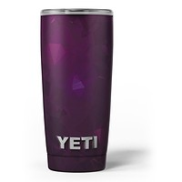 Dark Pink Geometric V16 - Skin Decal Vinyl Wrap Kit compatible with the Yeti Rambler Cooler Tumbler Cups