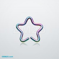 Colorline Star Cartilage Clip-On Non Piercing Ring