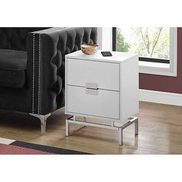 Chrome Base Accent Table
