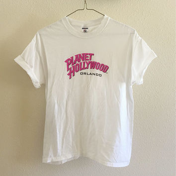 Planet Hollywood Orlando Tee Oversized 90s Vintage L