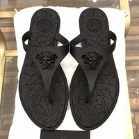 Versace Woman Men Fashion Slipper Flats Shoes