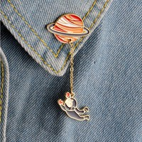 Shuangshuo 2017 Fashion Satellite Pins and Brooches for Women Big Broches Jewelry Fashion Enamel  Pin badge