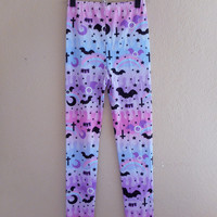 Dripping Sky Leggings MADE TO ORDER from Holley Tea Time
